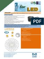 EtraLED-LUS-13080 Lustrous Modular Passive Star LED Heat Sink Φ130mm