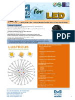 EtraLED-LUS-11020 for Lustrous Modular Passive Star LED Heat Sink Φ110mm