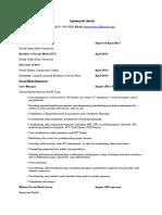 resume january 2017