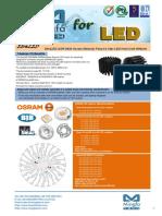 EtraLED-OSR-9650 Osram Modular Passive Star LED Heat Sink Φ96mm