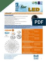 EtraLED-OSR-13020 - Osram Modular Passive Star LED Heat Sink Φ130mm