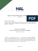 Sparse Channel Estimation