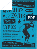 "Swamp Zombies - Lyric book for""A Frenzy of Music And Action"""