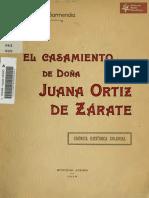 El Casamiento de Doña Juana Ortiz de Zárate, de José Ignacio Garmendia