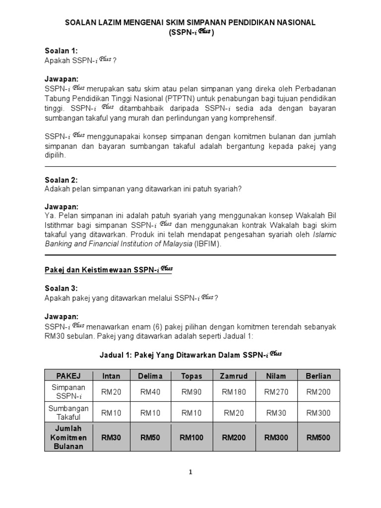 Soalan Lazim Mengenai Skim Simpanan Pendidikan Nasional Plus Final Januari 2016 Pin4 250216 1