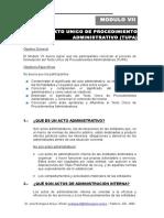 Capítulo VII Elaboración del Texto Único de Procedimientos Administrativos TUPA.doc