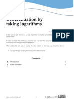 Differentiation by Taking Logs