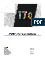 ANSYS Polyflow Examples Manual