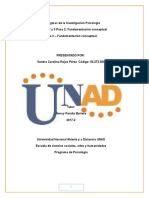 Preliminar Paradigmas de La Investigacion en Psicologia Paso 2 - Fundamentación Conceptual