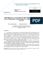 Theoretical Analysis of the Performance of Pressure Condonser