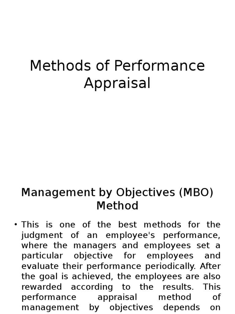 objective appraisal method