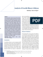 Sentiment Analysis of Swachh Bharat Abhiyan