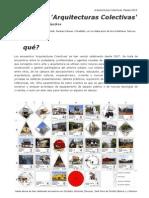 Encuentro 'Arquitecturas Colectivas'