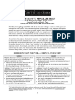 From Memo to Appellate Brief