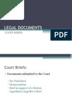 Legal Documents Court Briefs