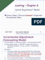Incremental Adjustment Forecasting Model