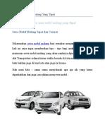 Sewa Mobil Malang dan Rental Mobil Malang mUrah