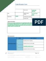 WHS Hazard Identification Form