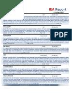 IEA Report  12th April