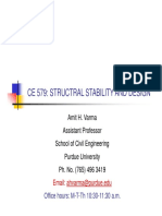 CE 579 Lecture 4 Stability-Energy Method Sm Defl