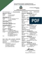 April Programme