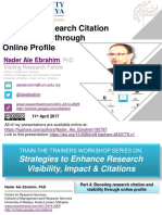 Boosting Research Citation and Visibility through Online Profile