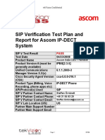 Ascom IP-DeCT Handset SIP Verification Final Test Report