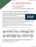 Symmetry as a Compositional Determinant VII Bartok & Webern