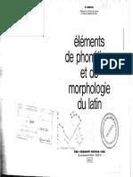 MONTEIL Éléments de Phonétique Et de Morphologie Du Latin