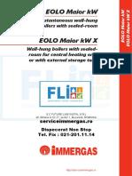EOLO Maior KW Export - Manual Tehnic - Ed 12-06 Centrala Termica