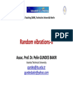 Berlin Ders 3_Random Vibrations‐II