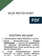 Blok Metod Riset