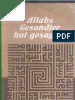 Allahs Gesandter hat gesagt