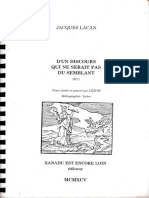 Lacan, Le séminaire XVKKK, D'und discours qui ne serait pas du semblant, Version LDDCM