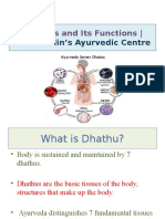 Dhathus and Its Functions |  Dr.franklin's Ayurvedic Centre