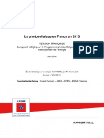 Photovoltaique en France en 2013 2014