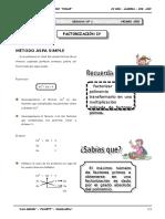 IV BIM - 1ero. Año - Guía 1 - Factorización IV