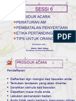 Sessi 6 Prosidur Acara & Peraturan1