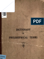 A Dictionary of Philosophical Terms - Chiefly From the Japanese (1913)