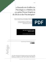 Prática Baseada Em Evidências Em Psicologia e a História Da Busca Pelas Provas Empíricas Da Eficácia Das Psicoterapias