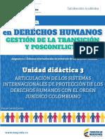 ARTICULACION DE LOS SISTEMAS INTERNACIONALES DE PROTECCIÓN DE LOS DERECHOS HUMANOSCON EL ORDEN JURIDICO COLOMBIANO