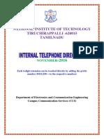 Internal Telephone Directory November2016
