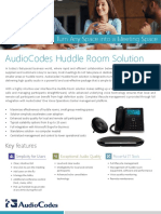 AudioCodes Huddle Room Solution - Turn Any Space Into a Meeting Space