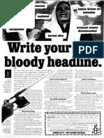 Bloody Headline
