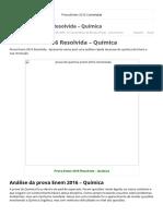 Prova Enem 2016 Resolvida - Química - PROF