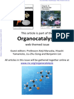 ChemComm Organocatalysis a Web Collection