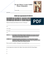 Middle Ages Lecture Handout 12-12-14
