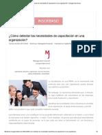 ¿Cómo Detectar Las Necesidades de Capacitación en Una Organización_ - Management Journal