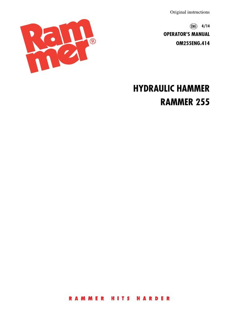 rammer 255 operators manual 414 air pollution dust rh scribd com Allied Rammer Hammer Rammer Hammer of Florida