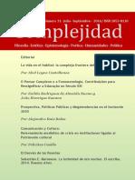 Complejidad Publicación Trimestral Número 31 Julio Septiembre 2016 Revista